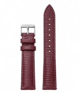 CLUSE Boho Chic Strap Burgundy Lizard burgundy lizard silver colored (CLS078)