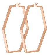 CLUSE Essentiele Large Hexagonal Hoop Earrings rose gold plated (CLJ50003)