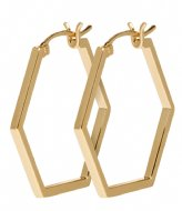 CLUSE Essentiele Hexagonal Hoop Earrings gold color (CLJ51004)