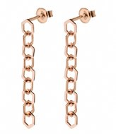 CLUSE Essentiele Open Hexagons Chain Earrings rose gold plated (CLJ50009)