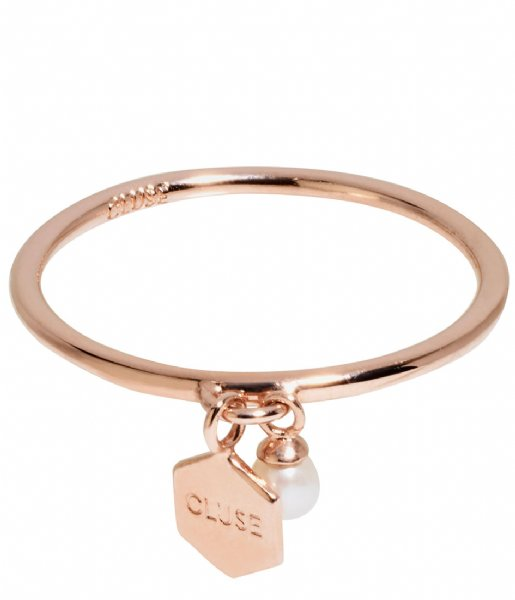 CLUSE  Essentiele Hexagon Pearl Charm Ring rose gold plated (CLJ40007)