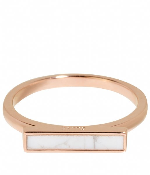 CLUSE  Idylle Marble Bar Ring rose gold plated (CLJ40002)