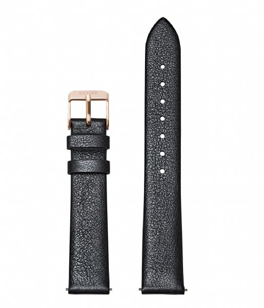 CLUSE  Strap Leather Rose Gold Colored 16 mm dark grey metallic (CS1408101054)