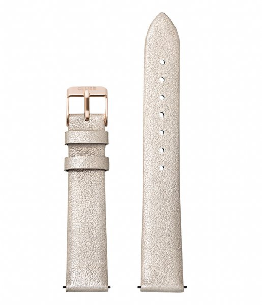 CLUSE  Strap Leather Rose Gold Colored 16 mm warm white metallic (CS1408101050)