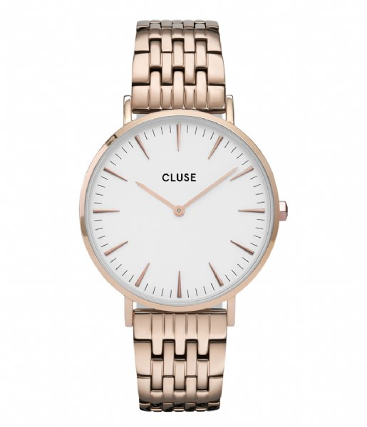 CLUSE  Boho Chic Multi Link Rose Gold Plated White white rose gold plated (CW0101201024)