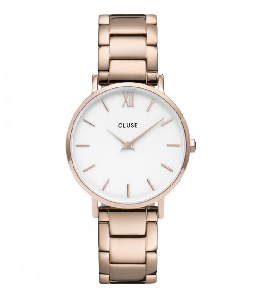 CLUSE  Minuit Three Link Rose Gold Plated white rose gold plated (CW0101203027)