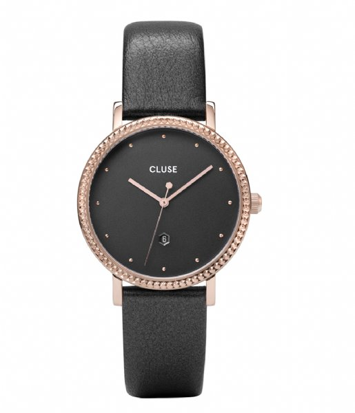 CLUSE  Le Couronnement Leather Rose Gold Plated rose gold plated dark grey (CW0101209007)