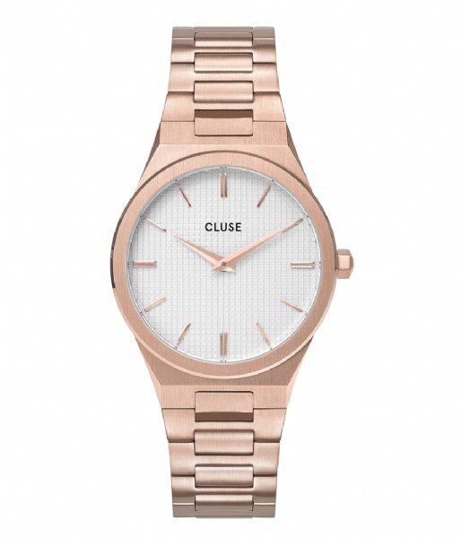 CLUSE  Vigoureux 33 H Link Rose Gold Colored snow white rose gold plated (CW0101210001)