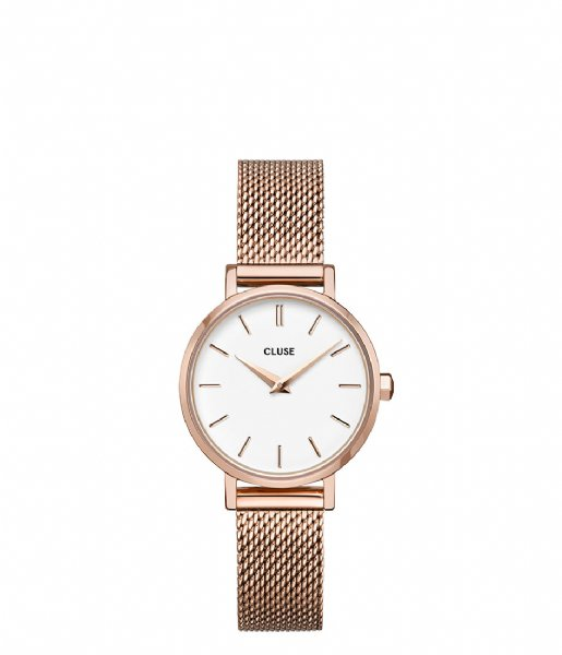 CLUSE  Boho Chic Petite Mesh Rose Gold White rose gold plated