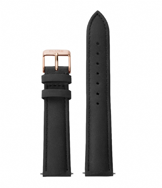 CLUSE  Strap 18 mm Leather Rose Gold Plated black rose gold plated (CS1408101001)
