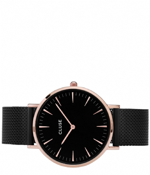 CLUSE  Boho Chic Mesh Rose Gold Plated Black rose gold plated black black (CW0101201010)