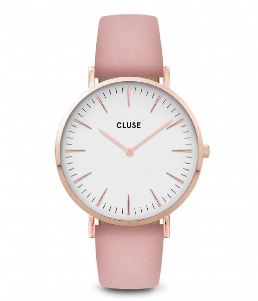 CLUSE  Boho Chic Leather Rose Gold Plated White rose gold white pink (CW0101201012)