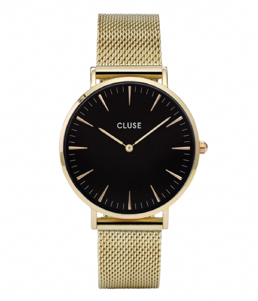 CLUSE  Boho Chic Mesh Gold Plated Black black gold plated (CW0101201014)