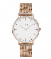 CLUSE Boho Chic Mesh Rose Gold Plated White rose gold plated (CW0101201001)
