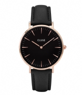 CLUSE Boho Chic Leather Rose Gold Plated Black rose gold plated black black (CW0101201011)