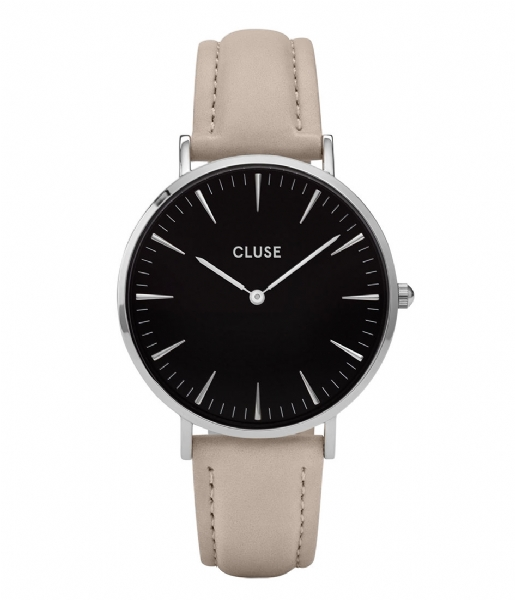 CLUSE  Boho Chic Silver Colored Black black grey (CL18218)