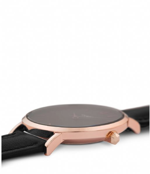 CLUSE  Minuit Leather Rose Gold Plated rose gold plated black (CW0101203013)