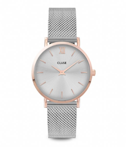 CLUSE  Minuit Mesh rose gold plated silver colored (CW0101203004)