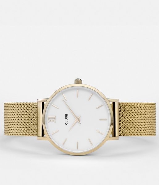 CLUSE  Minuit Mesh Gold Plated White white gold plated (CW0101203007)