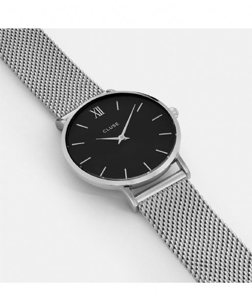 CLUSE  Minuit Mesh Silver Colored silver colored black (CL30015)