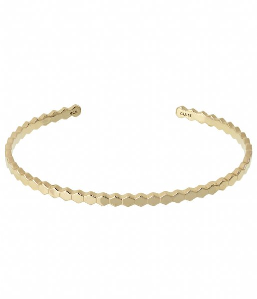 CLUSE  Essentielle All Hexagons Bangle Bracelet gold plated (CLJ11017)