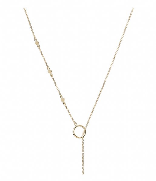 CLUSE  Essentielle Hexagon Charm Lariat Necklace gold plated (CLJ21013)