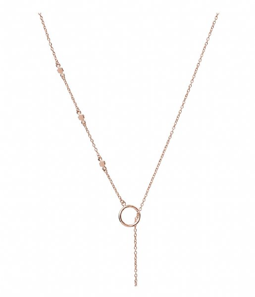 CLUSE  Essentielle Hexagon Charm Lariat Necklace rose gold plated (CLJ20013)