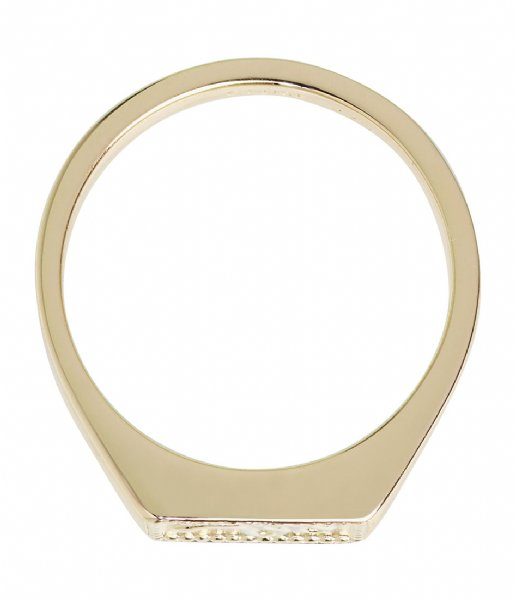 CLUSE  Force Tropicale Signet Rectangular Ring gold plated (CLJ41012)
