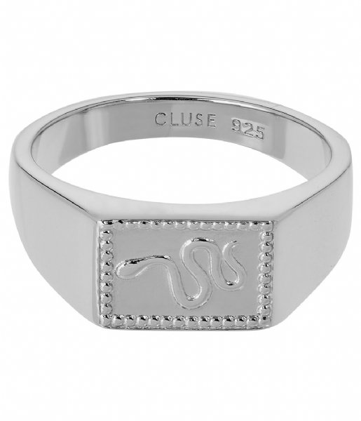 CLUSE  Force Tropicale Signet Rectangular Ring silver plated (CLJ42012)