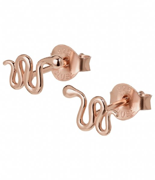 CLUSE  Force Tropicale Snake Stud Earrings rose gold plated (CLJ50020)