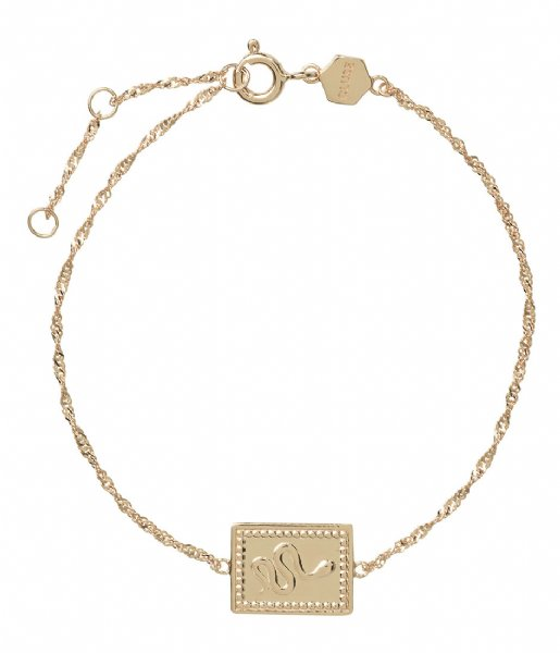 CLUSE  Force Tropicale Twisted Chain Tag Bracelet gold plated (CLJ11022)