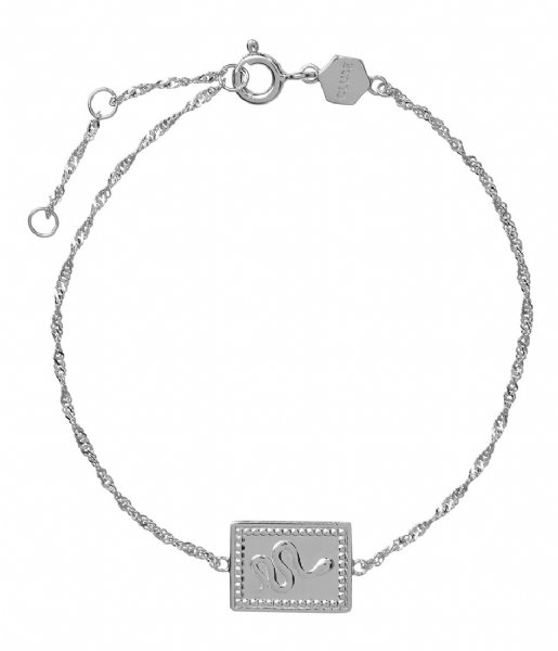 CLUSE  Force Tropicale Twisted Chain Tag Bracelet silver colored (CLJ12022)
