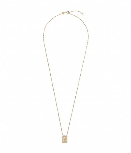 CLUSE  Force Tropicale Twisted Chain Tag Pendant Necklace gold plated (CLJ21014)