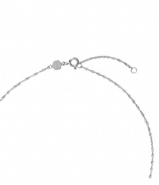 CLUSE  Force Tropicale Twisted Chain Tag Pendant Necklace silver plated (CLJ22014)