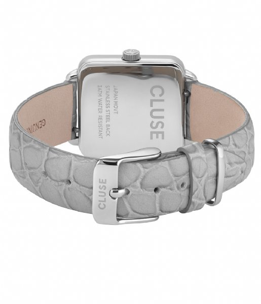 CLUSE  Tetragone Silver Colored soft grey alligator (CL60018)