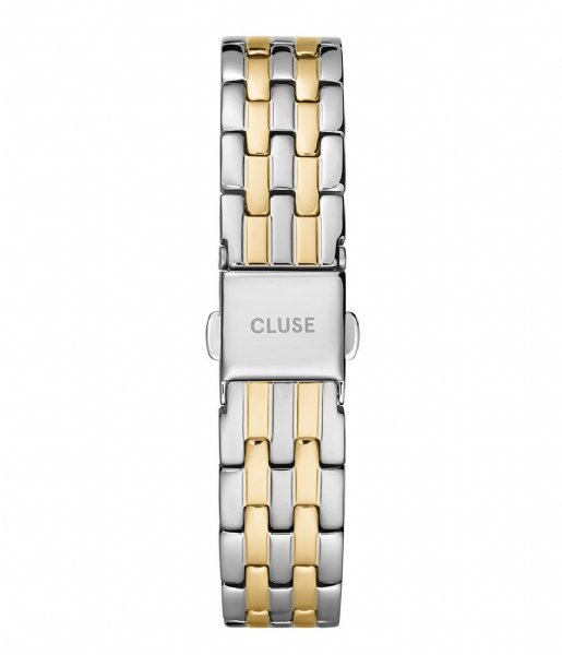 CLUSE  5 Link Strap 16 mm  silver gold plated (CS1401101077)