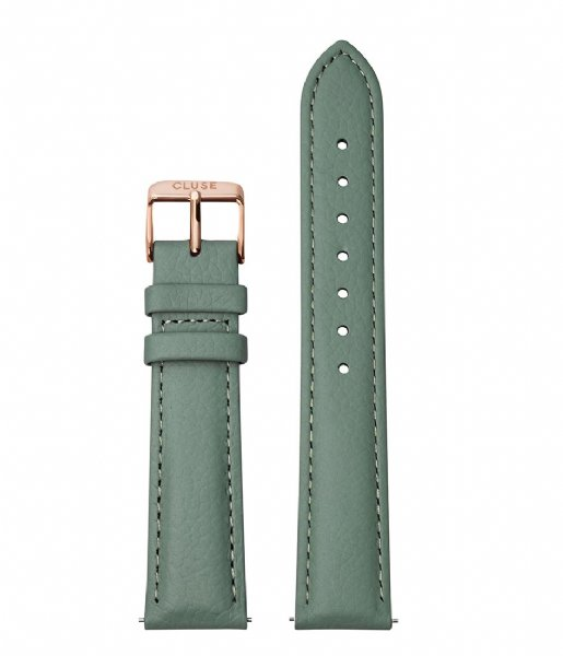 CLUSE  Strap 18 mm Leather Rose Gold Plated stone green (CS1408101087)