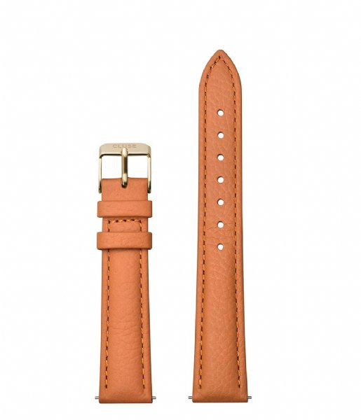 CLUSE  Strap 16 mm Leather Gold Plated sunset orange (CS1408101083)