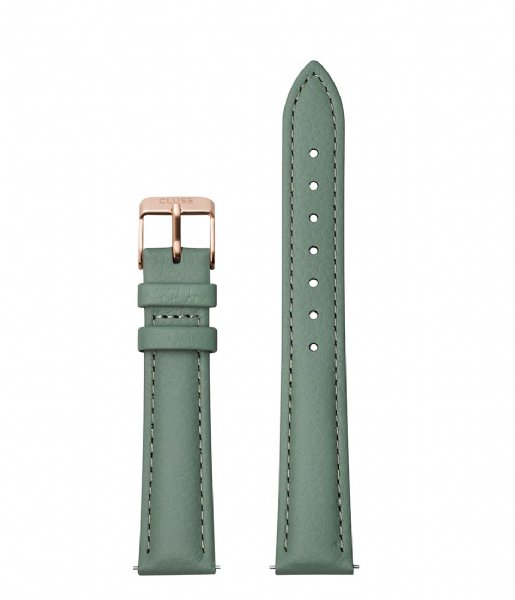 CLUSE  Strap Leather Rose Gold Colored 16 mm stone green (CS1408101084)