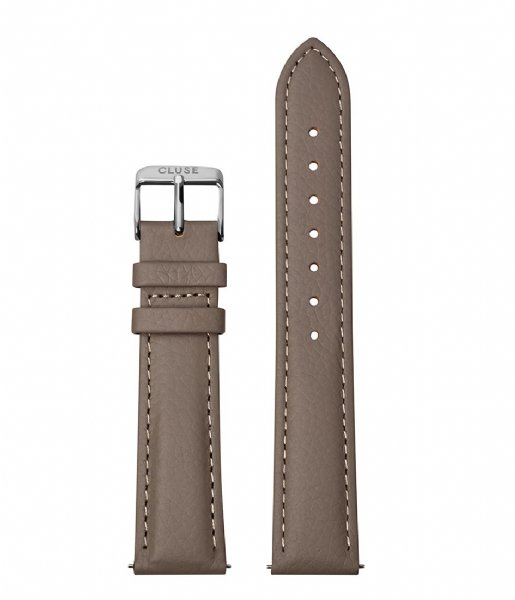 CLUSE  Strap Silver Colored 18 mm taupe (CS1408101085)
