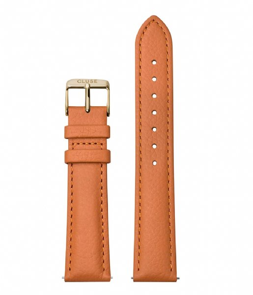 CLUSE  Strap Leather Gold Plated 18 mm sunset orange (CS1408101086)