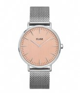 CLUSE Boho Chic Mesh Silver Colored rose gold colored (CW0101201026)