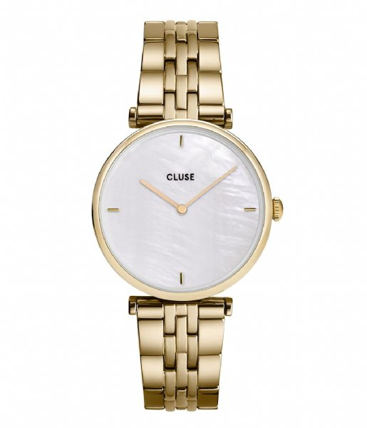 CLUSE   Triomphe 5 Link Gold White Pearl gold plated (CW0101208014)