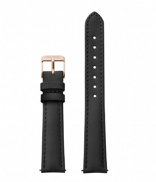 CLUSE  Strap 16 mm Leather black rose gold plated (CS1408101024)