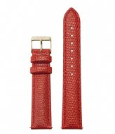 CLUSE Strap leather 18 mm Gold colored Lizard coral (CS12307)