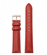 CLUSE Strap Leather 18 mm Rose Gold coloured Lizard coral (CS12304)