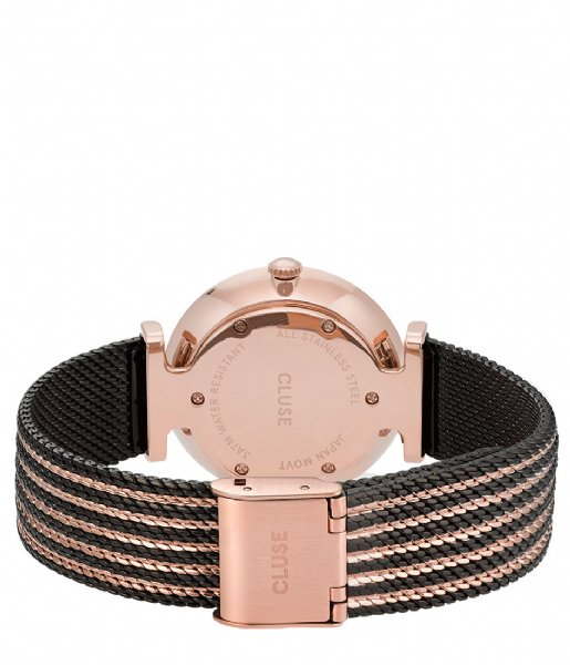 CLUSE  Triomphe Mesh rose gold plated black (CW0101208005)