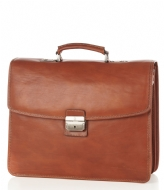 Castelijn & Beerens Verona Document Laptop Bag 15.6 inch lichtbruin