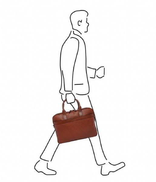 Castelijn & Beerens  Laptop Bag 15.6 Inch cognac
