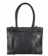 Cowboysbag Laptop Bag Jade 13 inch X Bobbie Bodt Snake Black and Gold (108)